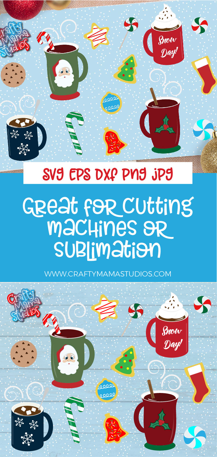 Hot Cocoa Bundle SVG, Sublimation, Cookies SVG, Snow Day example image 5