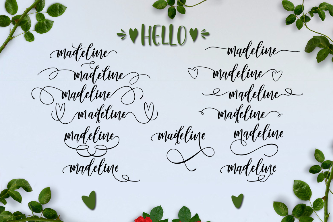 Lovely Buttering Font Duo & Extras example image 14