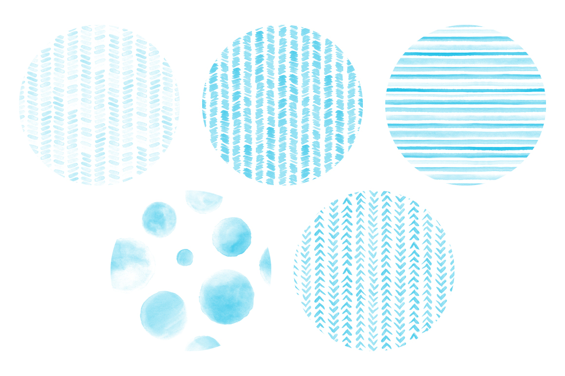 20 Seamless Watercolor Patterns Light Blue example image 5