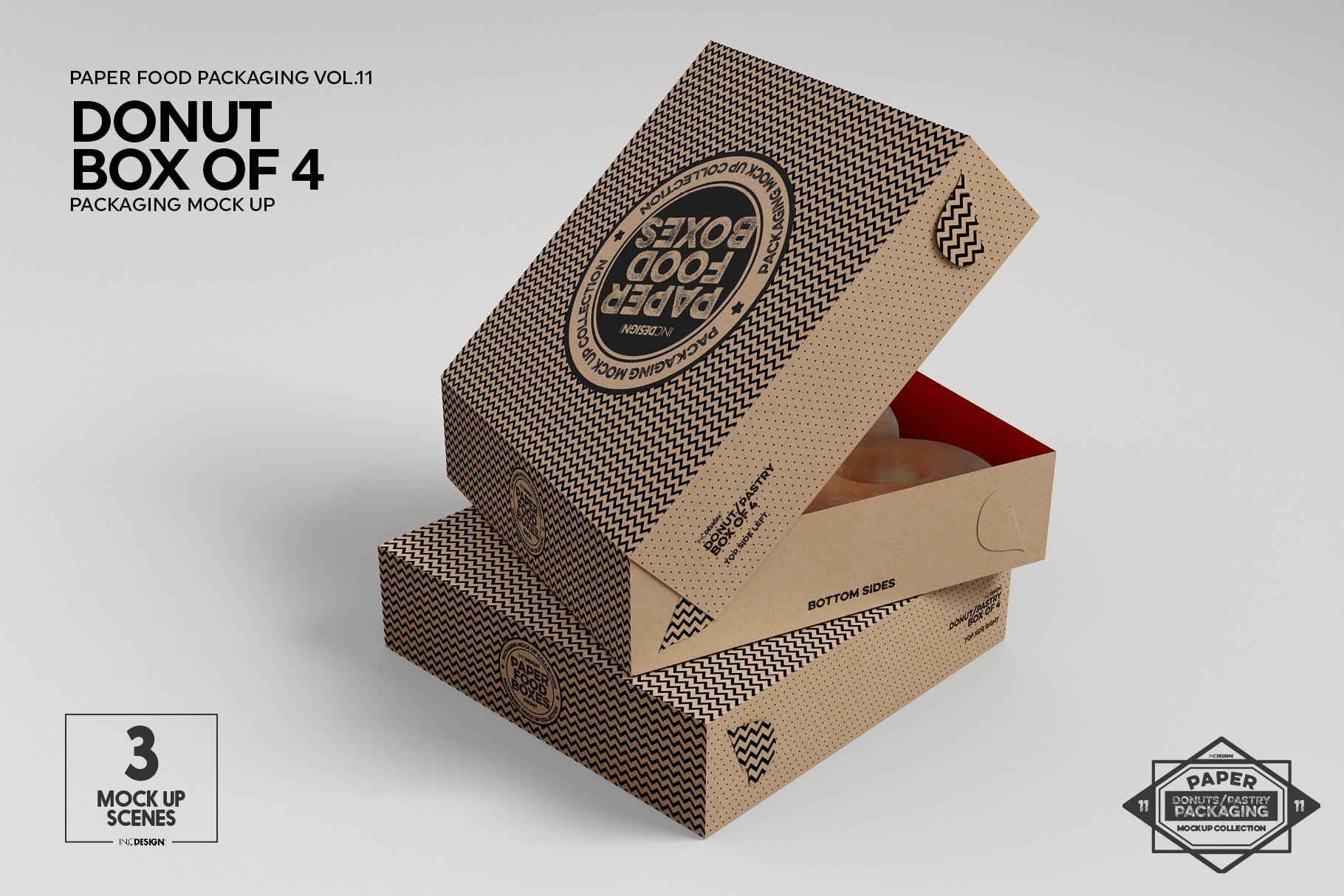 VOL.11 Food Box Packaging MockUps example image 17