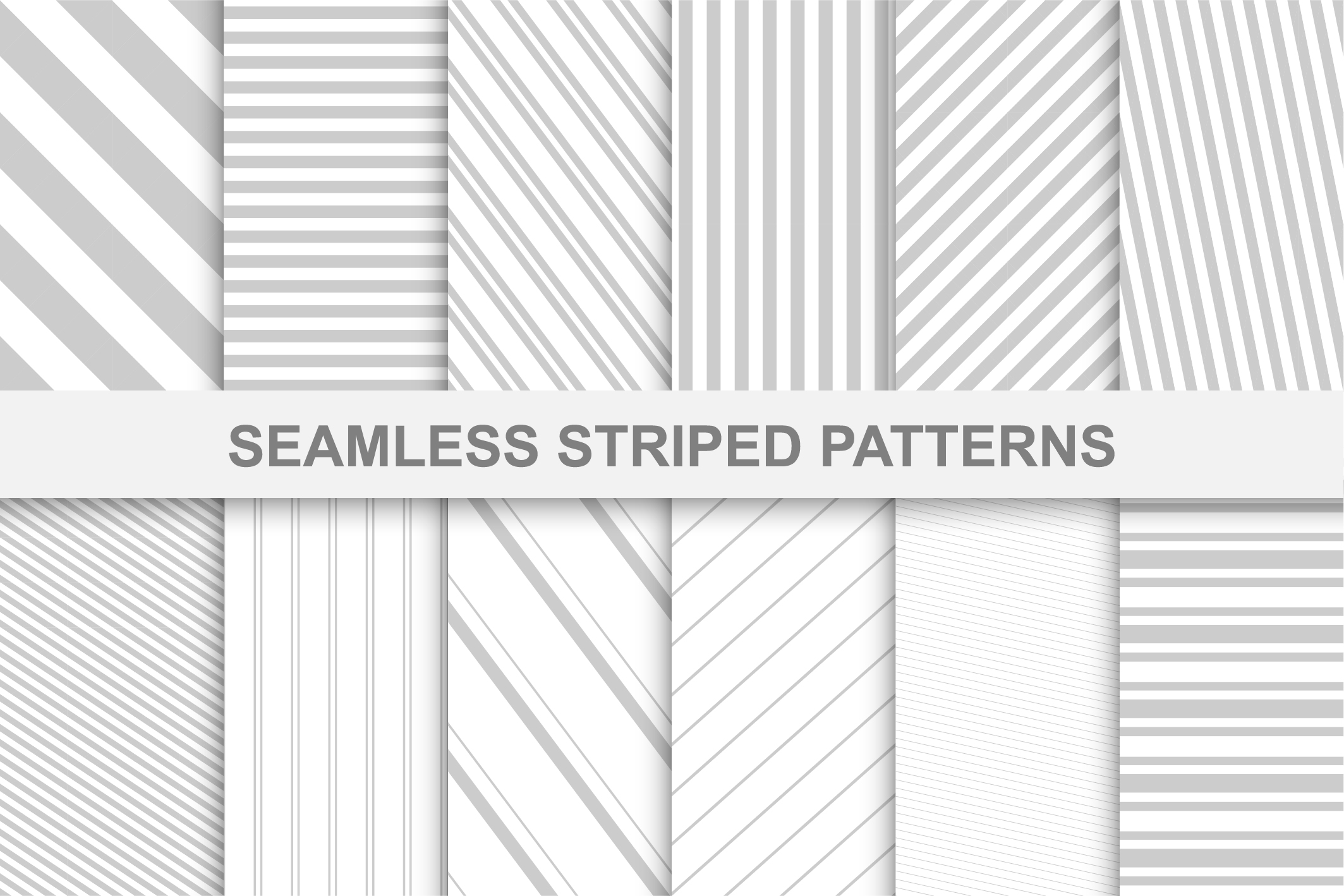 Striped seamless patterns. example image 1