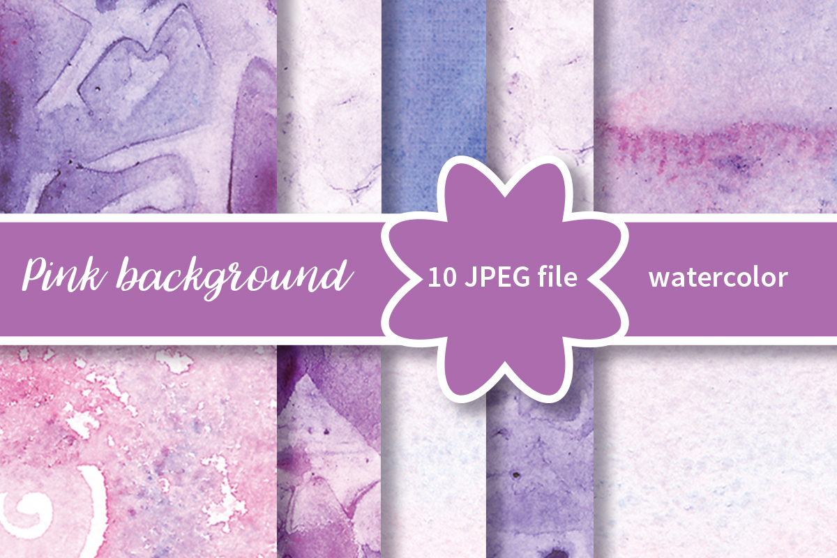 Watercolor violet background example image 1