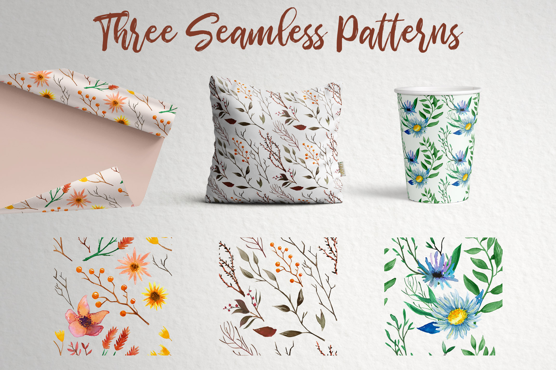Watercolor Floral Essence Clip Art Pack example image 2