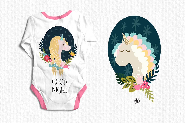 Unicorns - illustrations and patterns example image 3