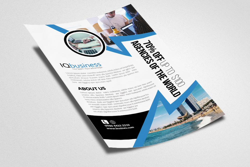 Industrial & Commercial Construction Flyer example image 2