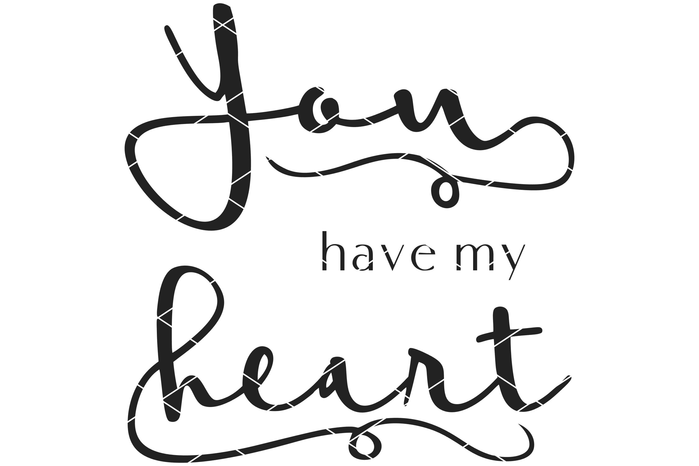You Have My Heart Romantic SVG, Printable & Sublimation PNG example image 4