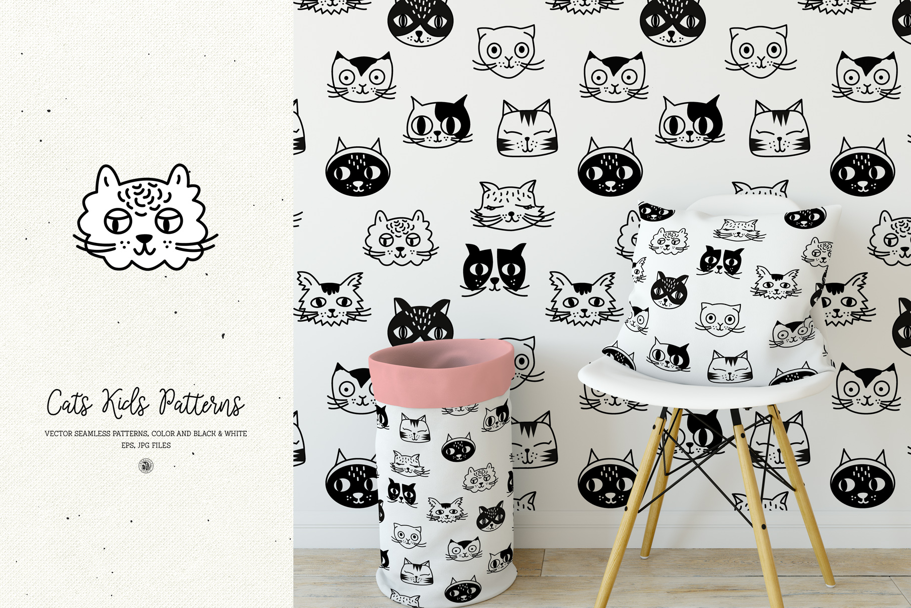 Cats Kids Patterns example image 2