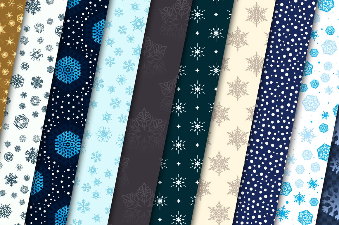 100 Snowflake Seamless Patterns example image 8