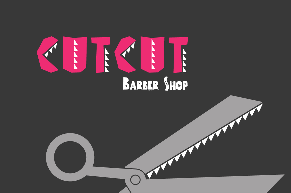 CUTCUT typeface example image 13