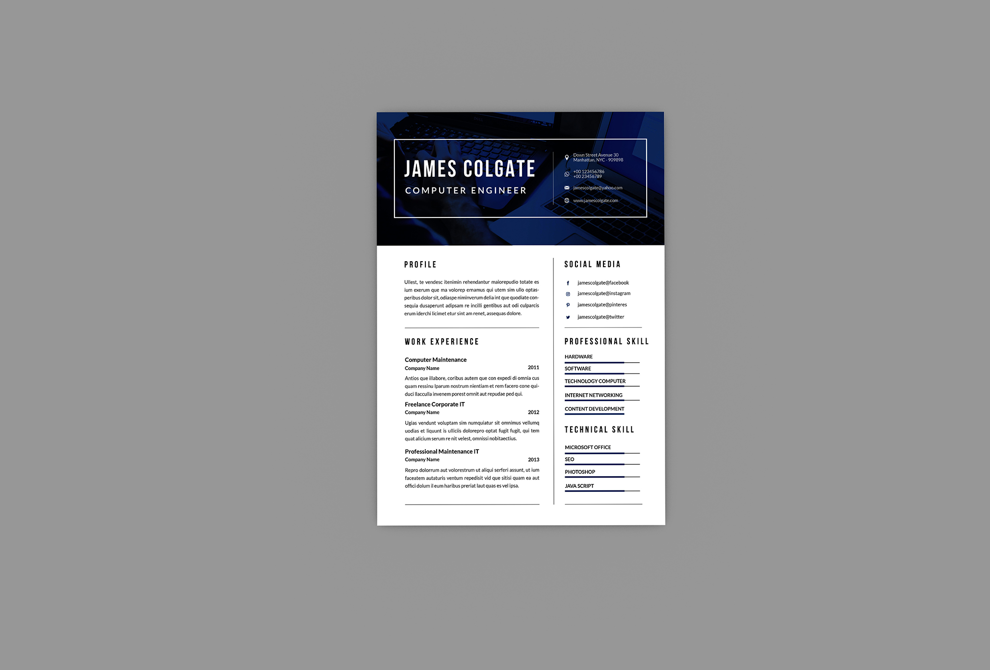 Earth Resume Designer example image 4