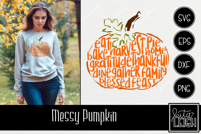 Messy Thanksgiving Pumpkin example image 1