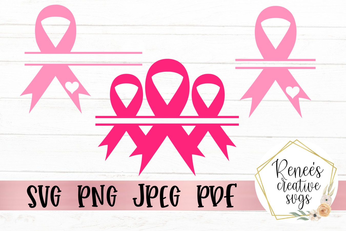 Breast Cancer Awareness Monogram|Breast cancer awareness SVG example image 1