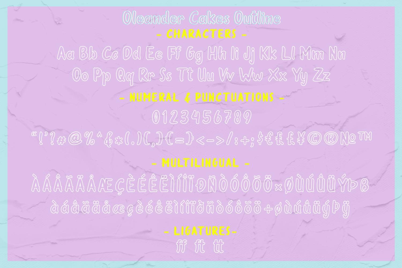 Oleander Cakes - Sweet Handmade Font example image 9