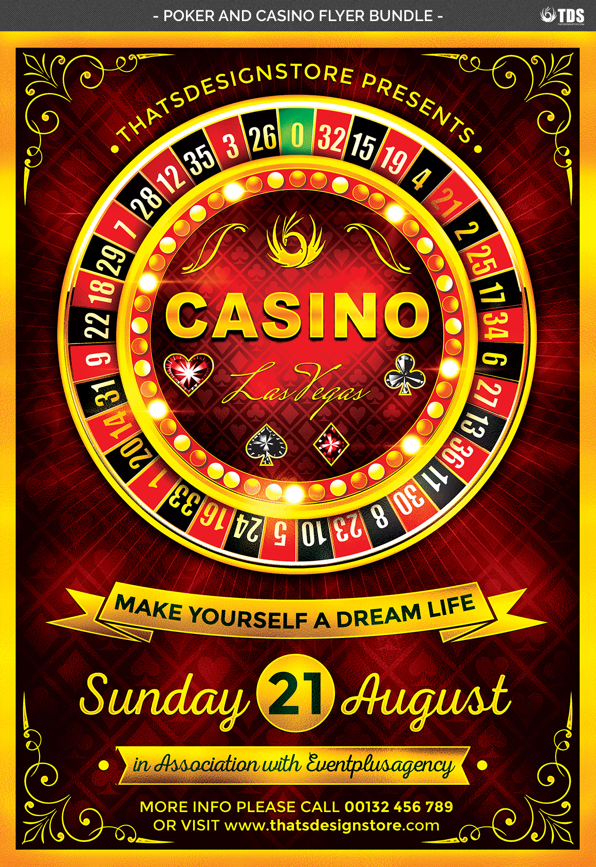 Poker and Casino Flyer Bundle example image 9