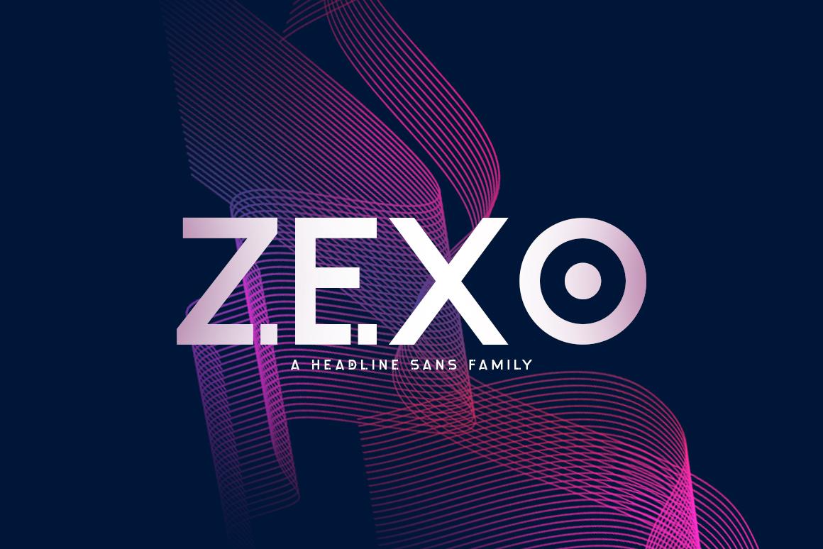 Zexo Sans Family example image 1