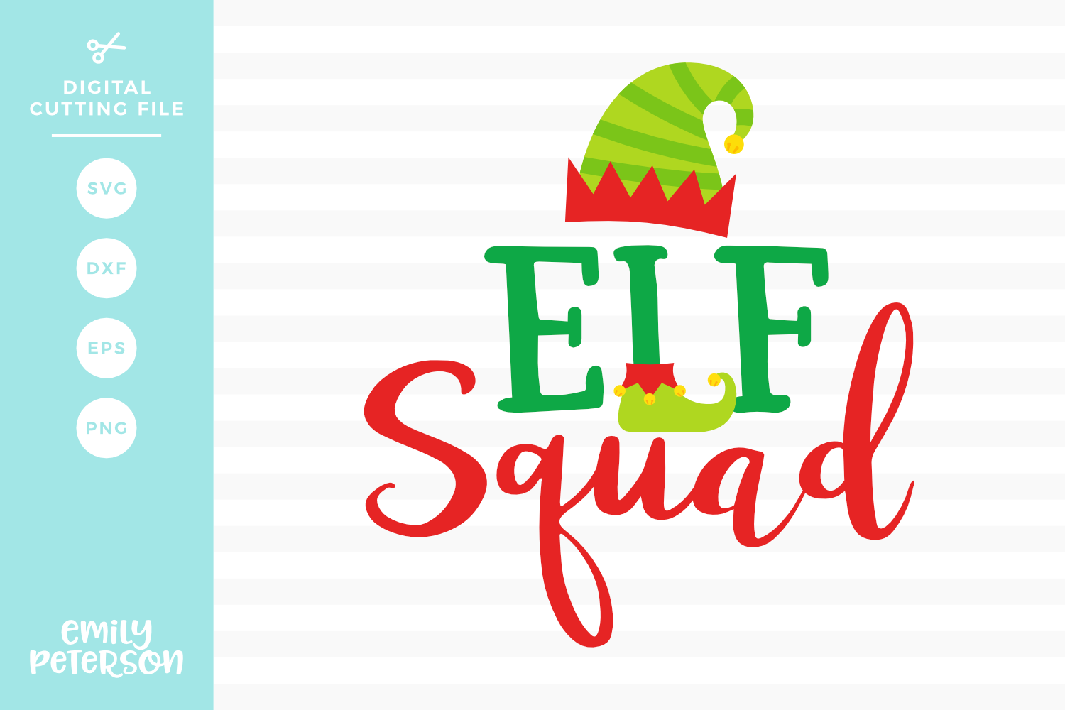 Elf Squad SVG DXF EPS PNG example image 1