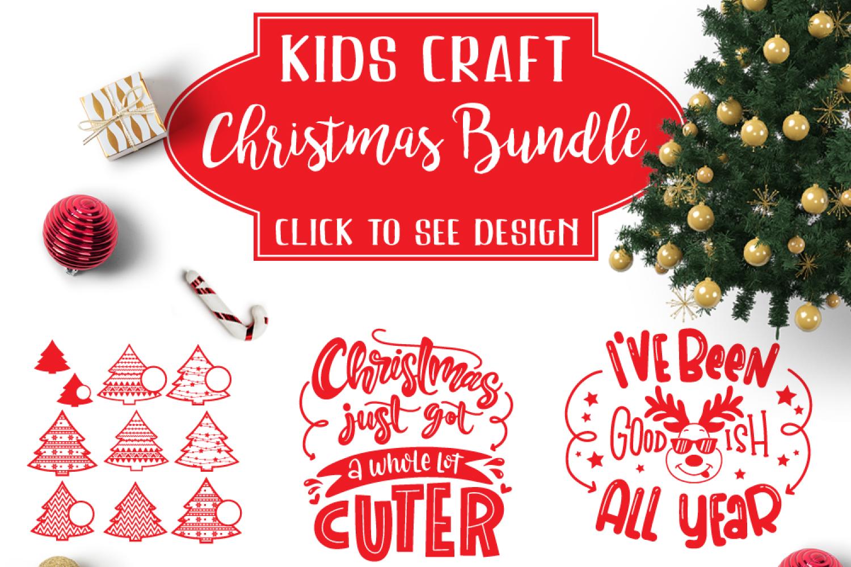 Christmas Kids Craft Bundle svg Christmas Pack svg Bundles example image 1