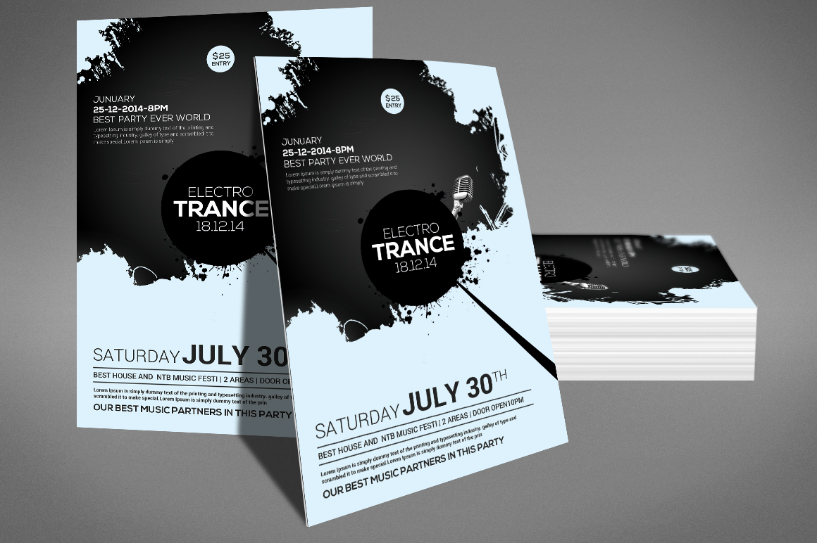 Trance Concert Flyer example image 3