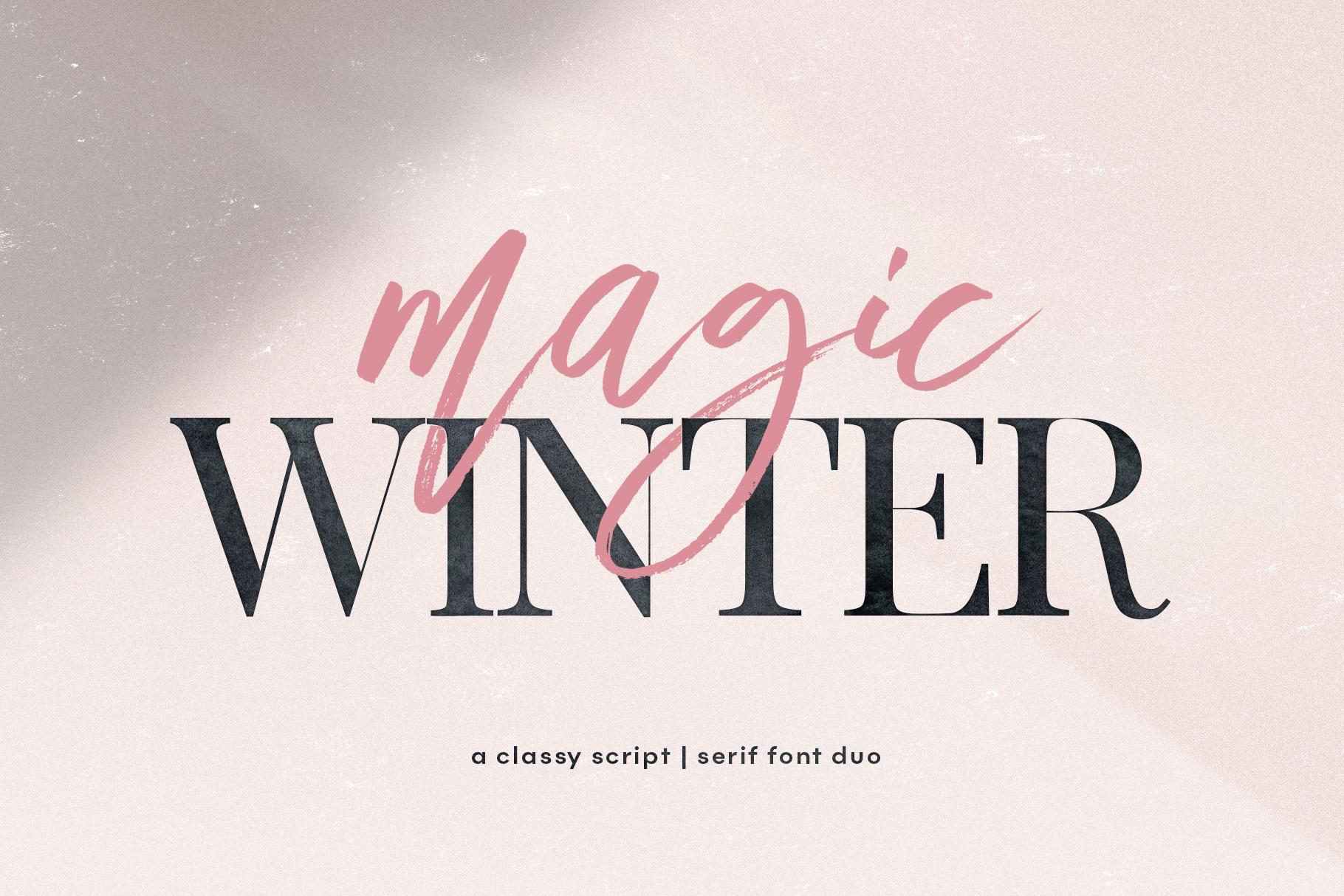 Magic Winter - A Serif/Script Handwritten Font Duo example image 1