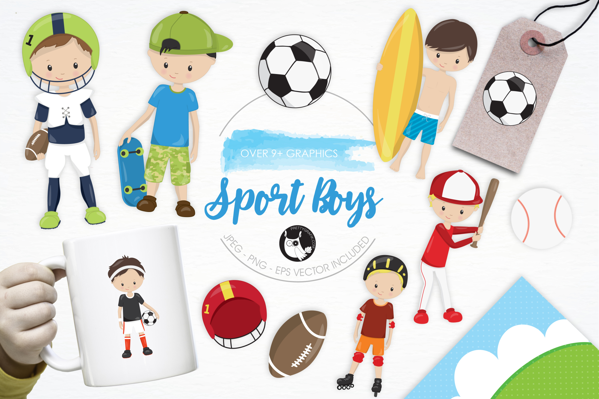 Sport Boys graphics and illustrations example image 1