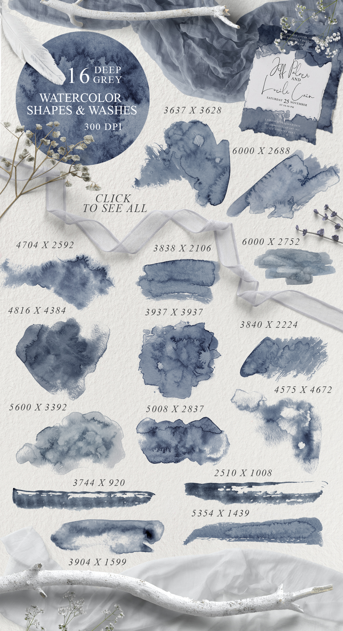 Elegant Watercolor Backgrounds example image 2