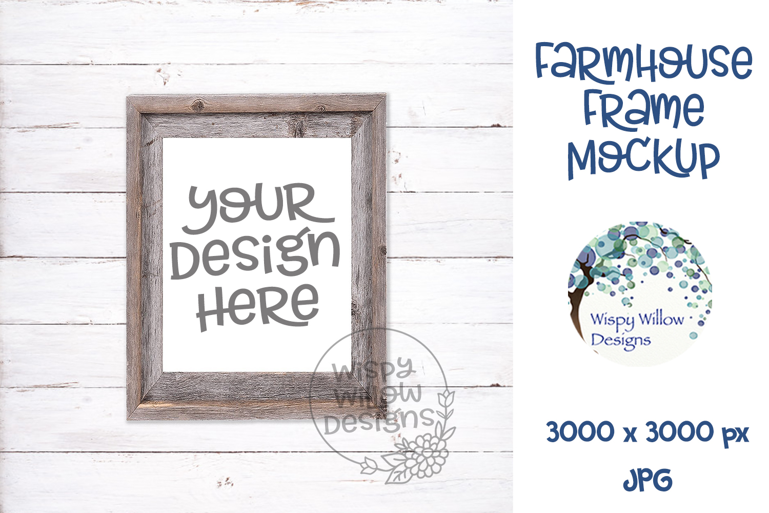 8x10 Vertical Farmhouse Photo Frame Mockup example image 1
