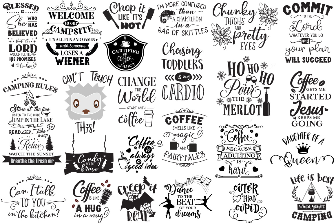 The Ginormous SVG Cut Files Bundle example image 5