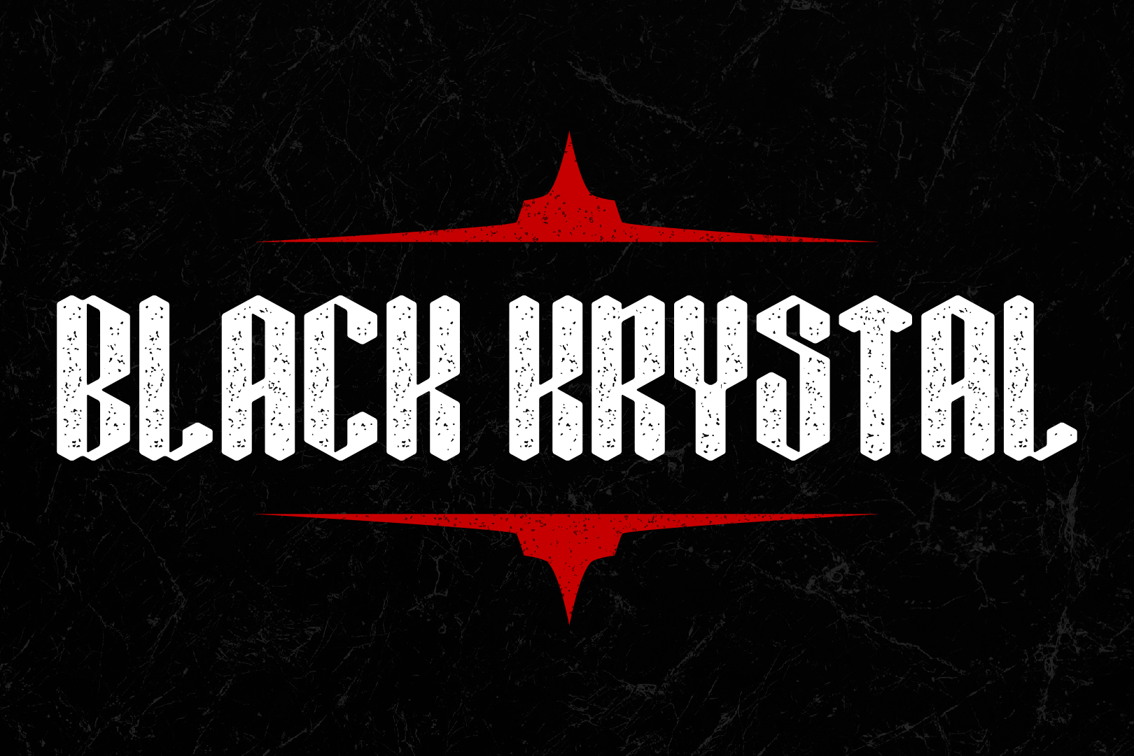 Black Krystal Font example image 2