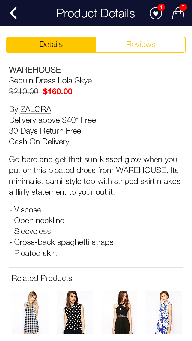 Zalora Shopping UI for e-commerce example image 13