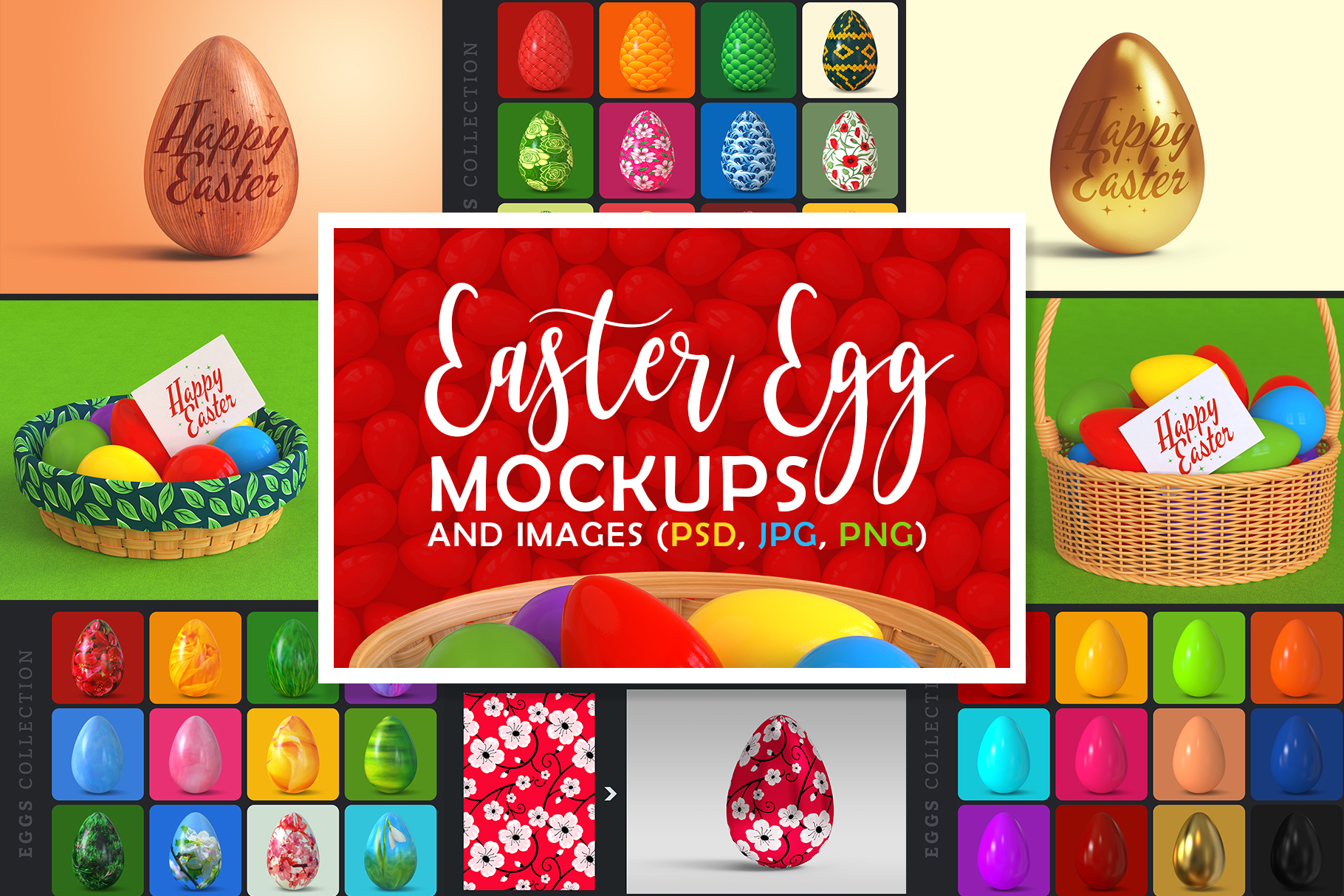 Easter Egg Mockups and Images example image 1