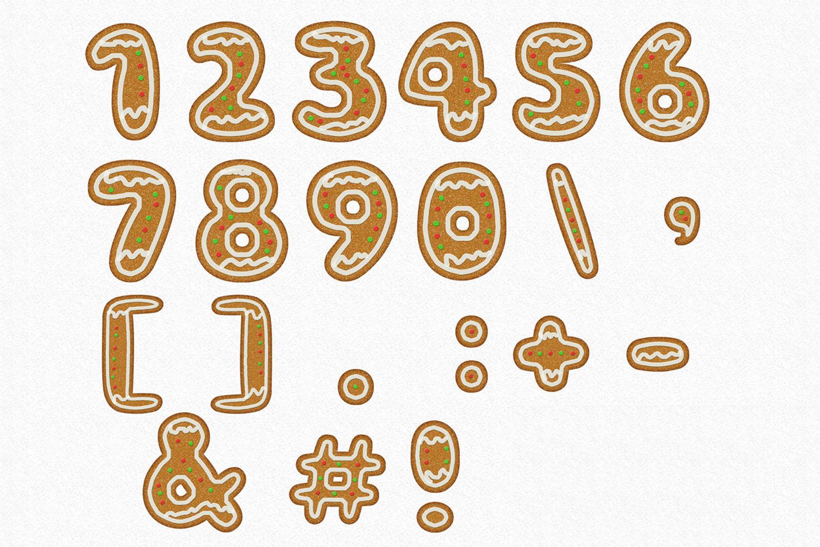 Gingerman Design Bundle - Letters, Numbers, Illustrations example image 6