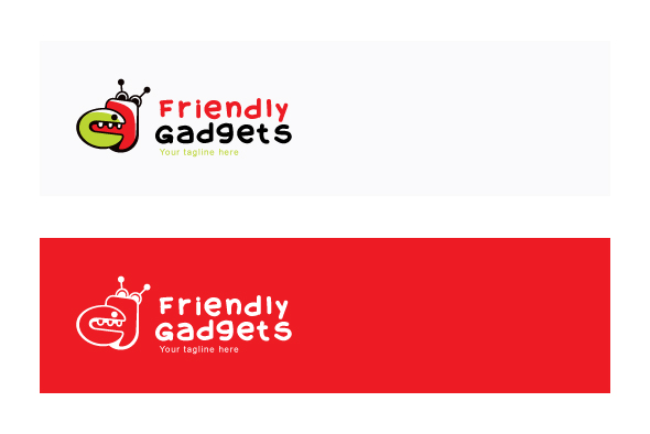 Friendly Gadgets - Cute Robotic Gadgets Stock Logo Template example image 2