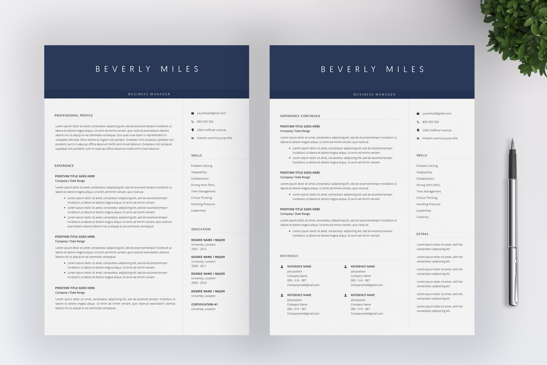 Resume Template and Cover Letter | CV template example image 3