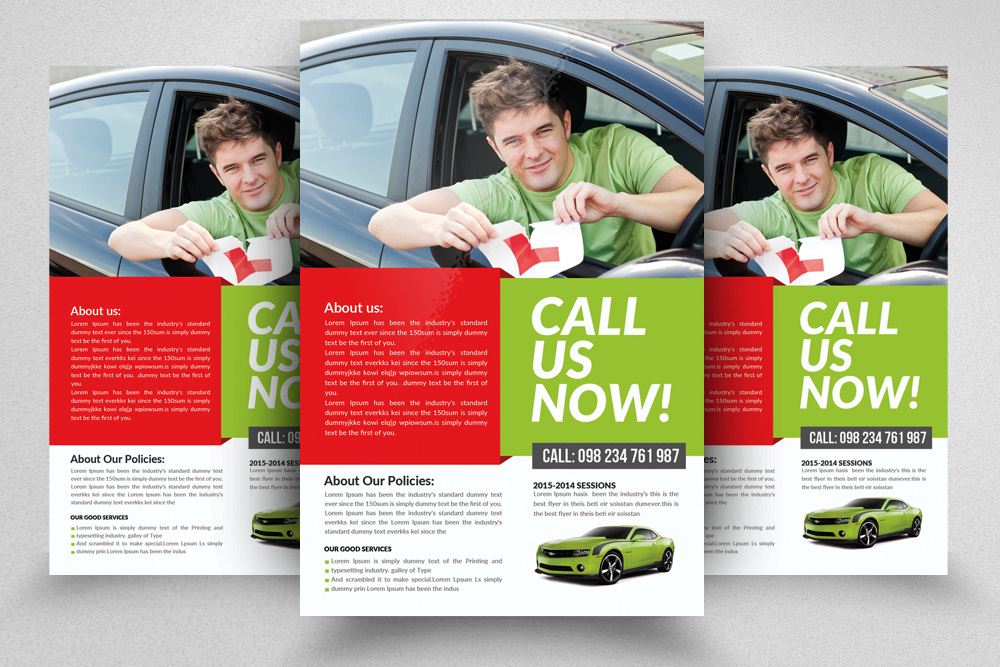 Driving School Flyers Templates example image 2