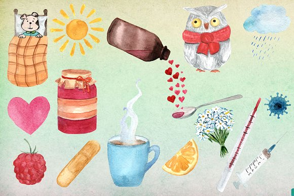 17 png Get Well Watercolor Clip Art example image 2