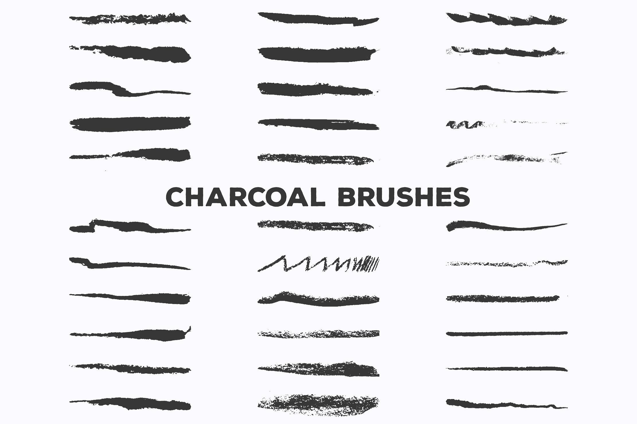 Pencil Charcoal Illustrator Brushes