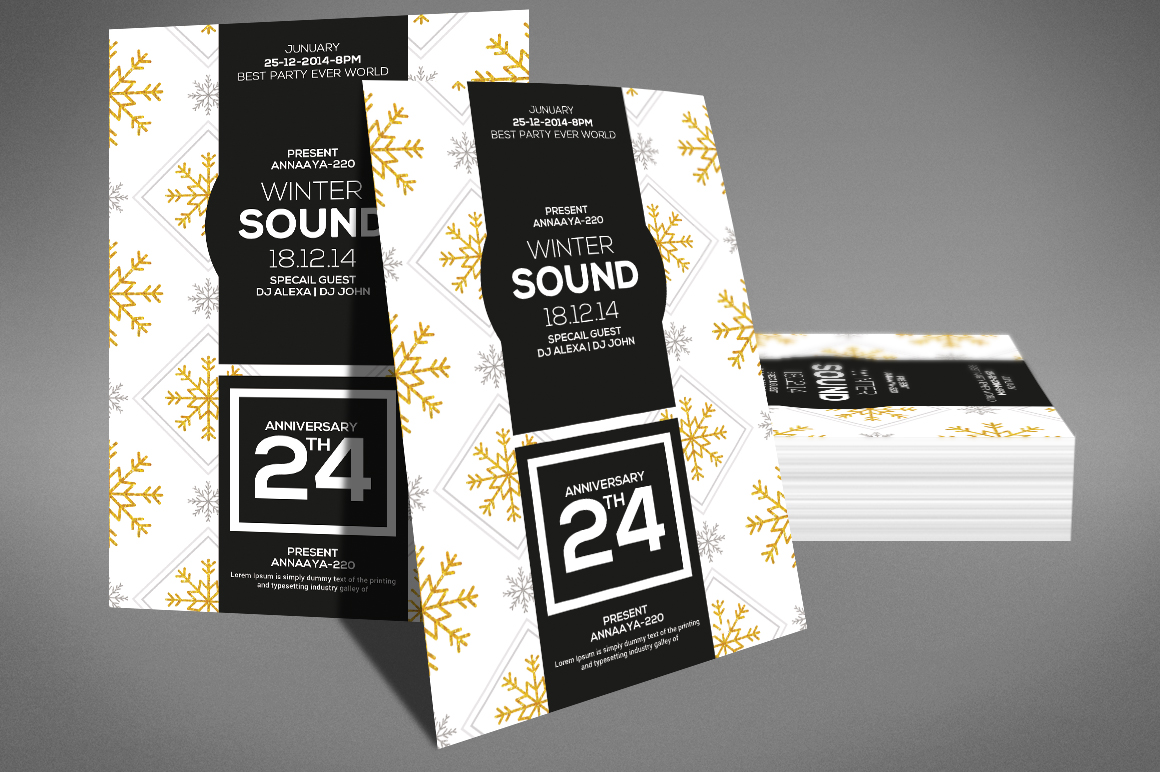 Winter Sound Party Flyer example image 3