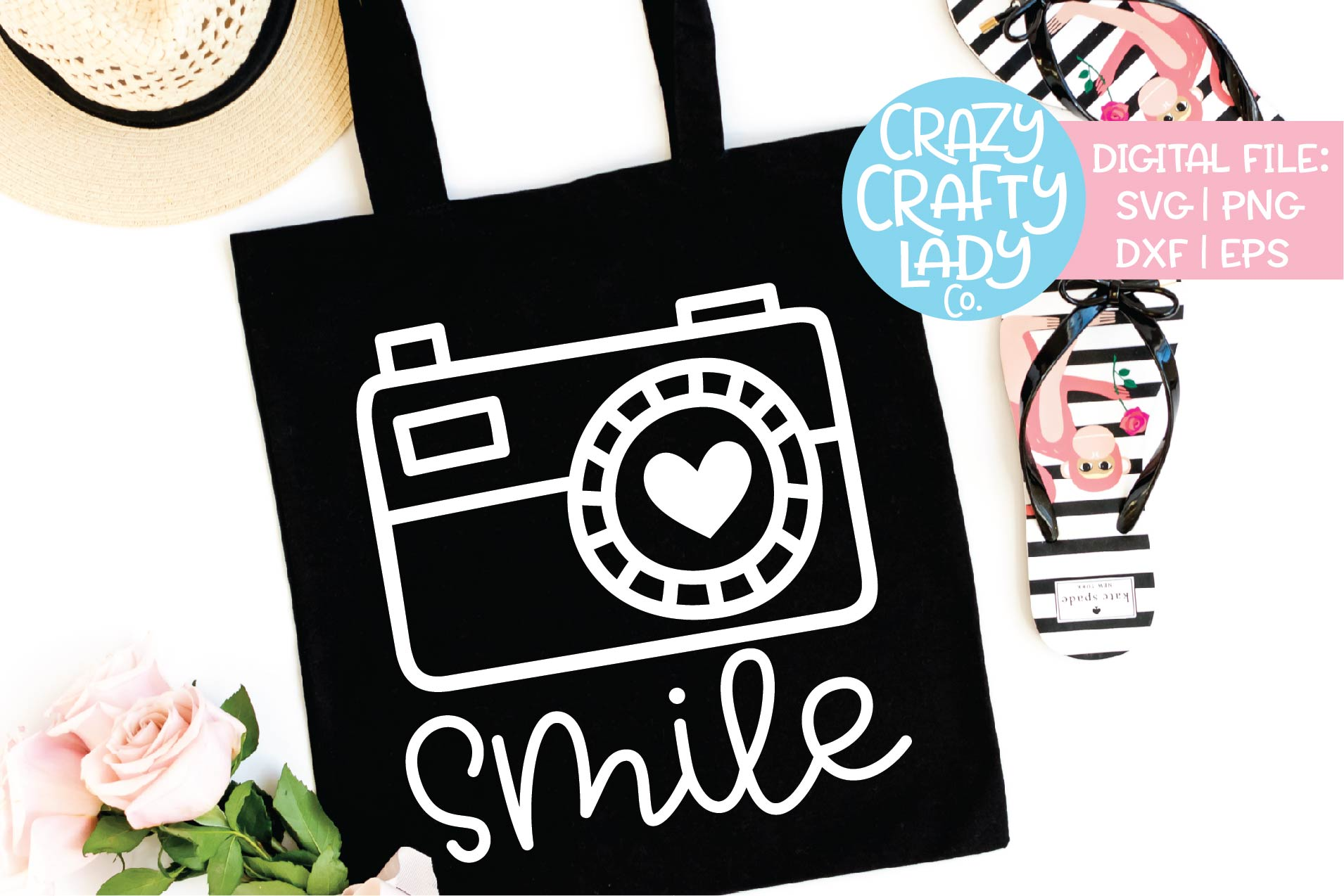 Smile Photography SVG DXF EPS PNG Cut File example image 1
