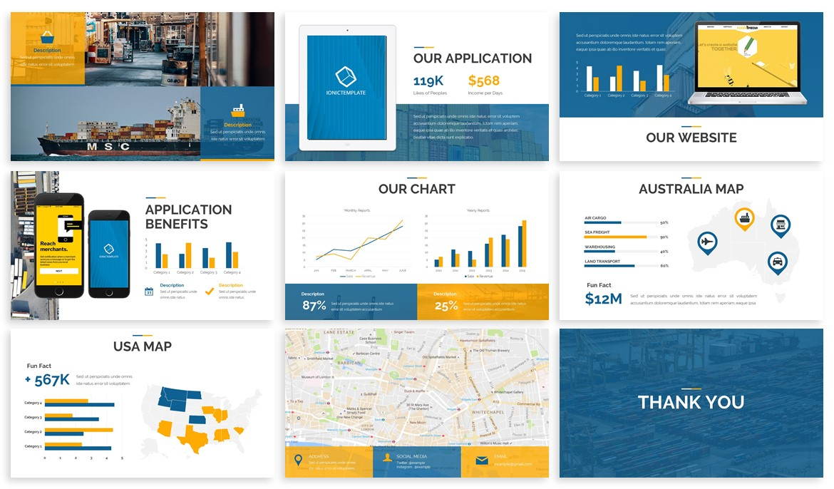 Spade - Logistics Powerpoint Template example image 4