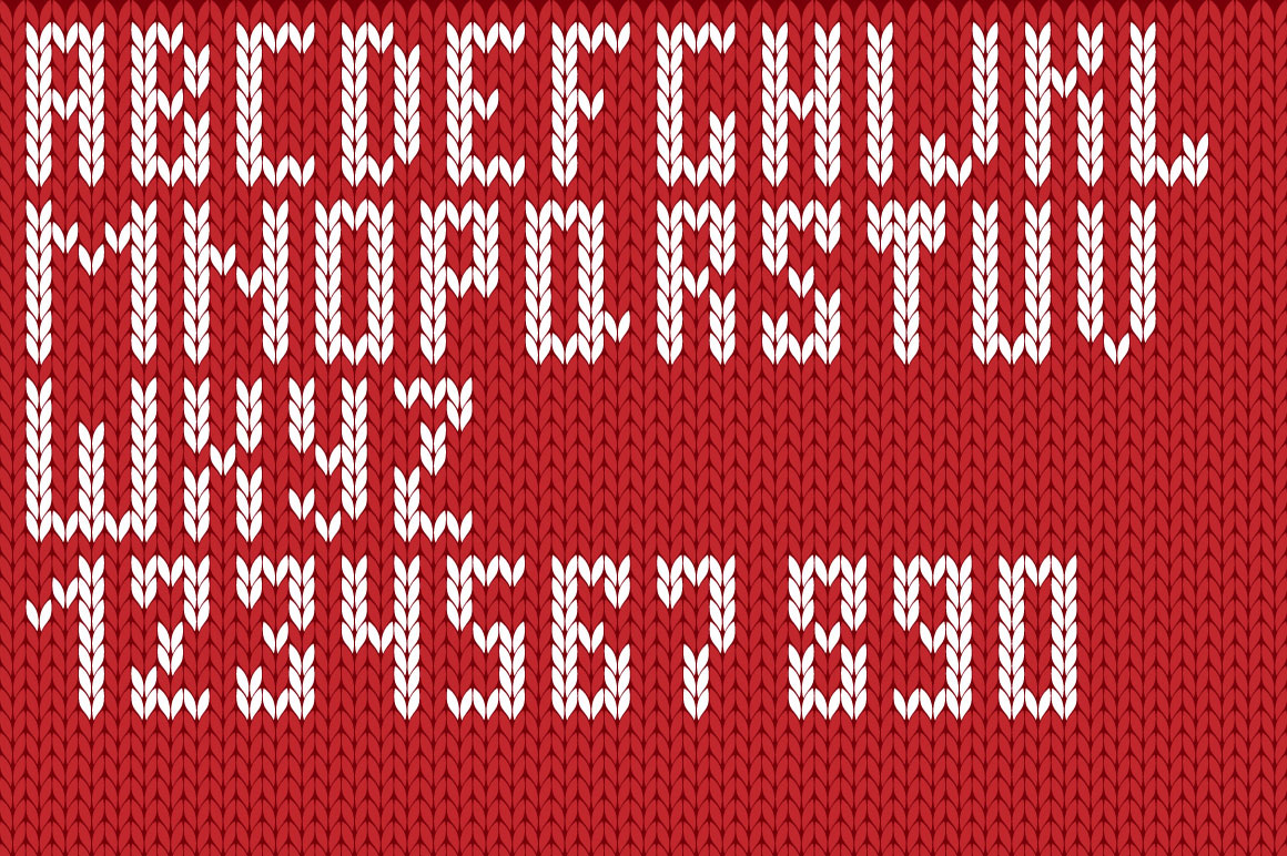 Christmas Knitted Font Ol example image 4