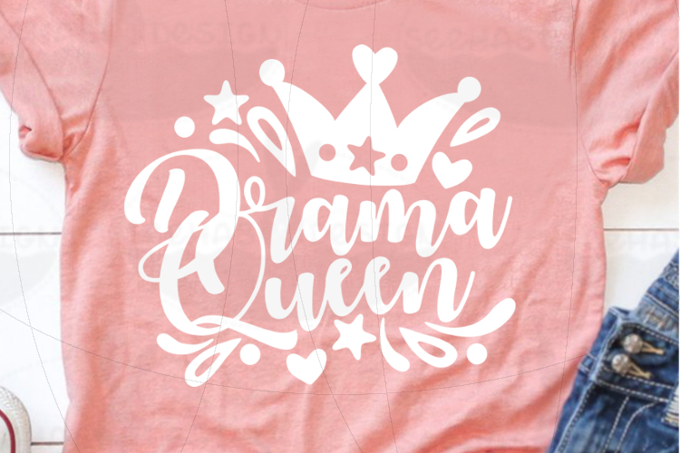 File Drama Queen for Cutting Laser Print SVG PDF EPS example image 3