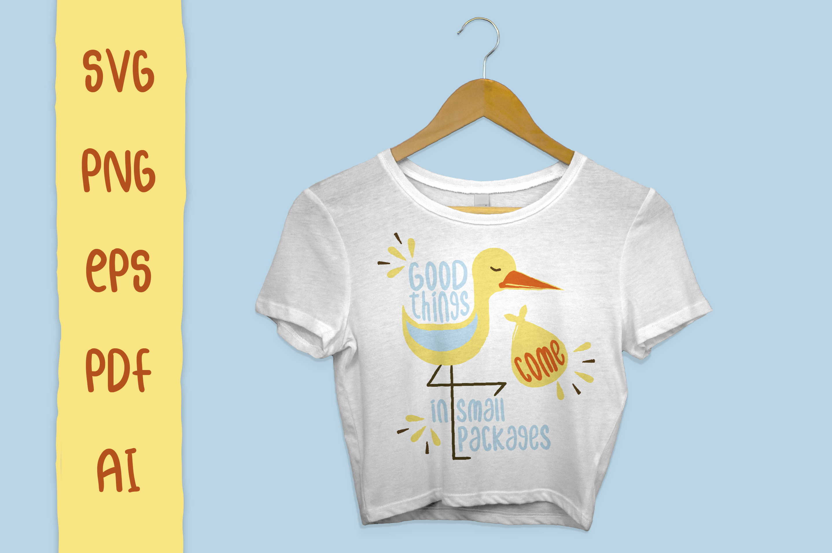 Pregnancy Stork Package - SVG Files for Crafters example image 1