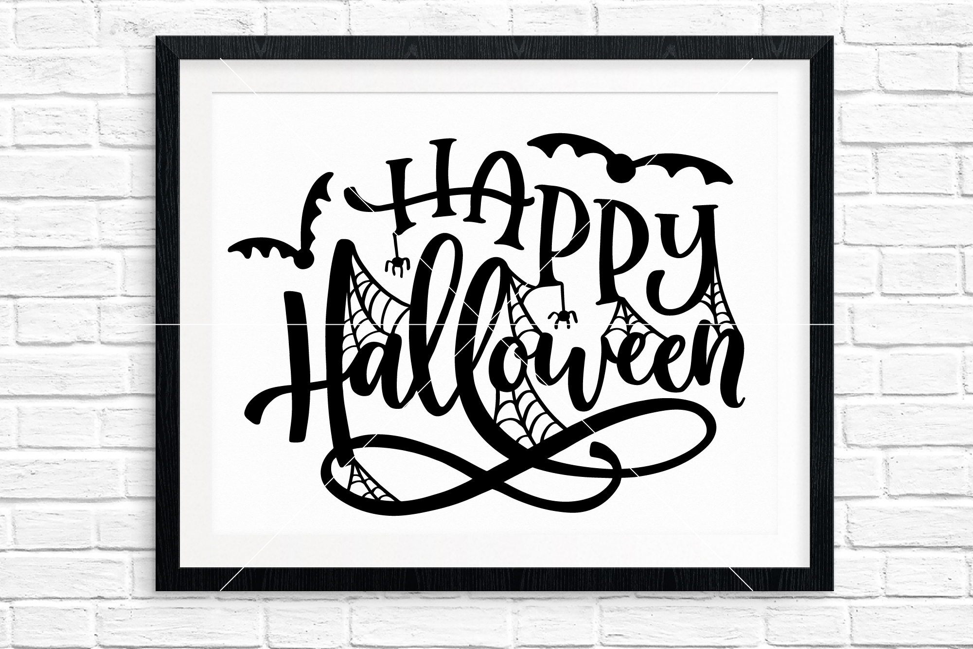 Halloween Hand Lettered Cut Files Bundle, SVG DXF EPS PNG example image 7