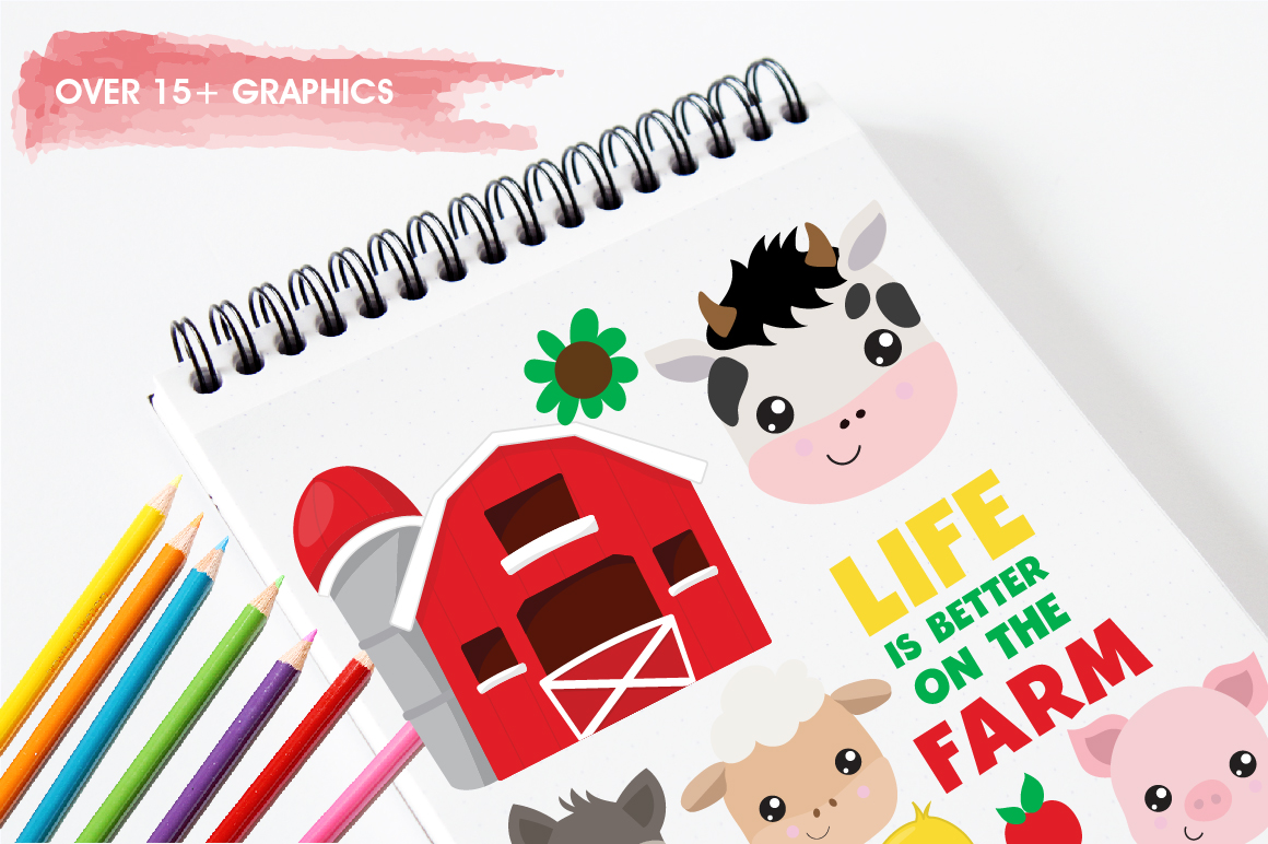 Farm Friends graphics and illustrations example image 3