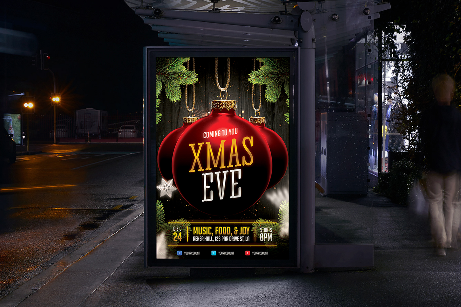 Christmas Event Flyer Template example image 5