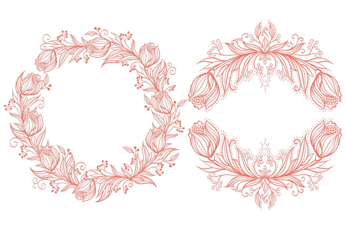 Vector Floral, patterns & hearts example image 6