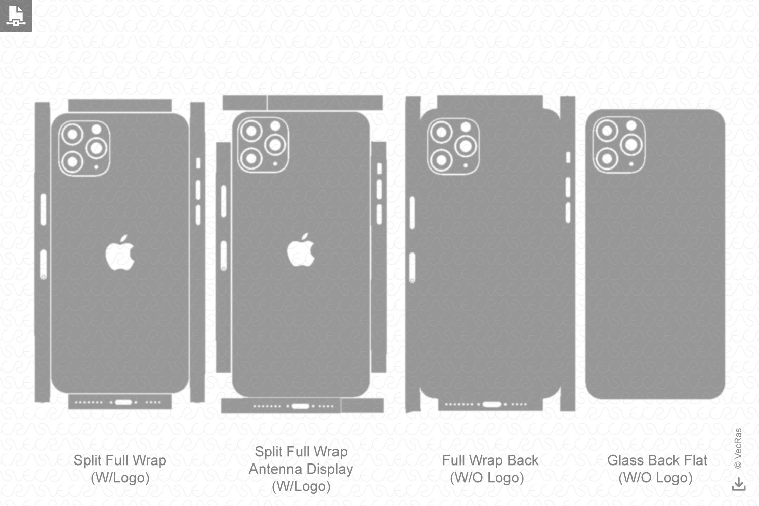 iPhone 11 Pro Max 2019 Skin Template Vector example image 2