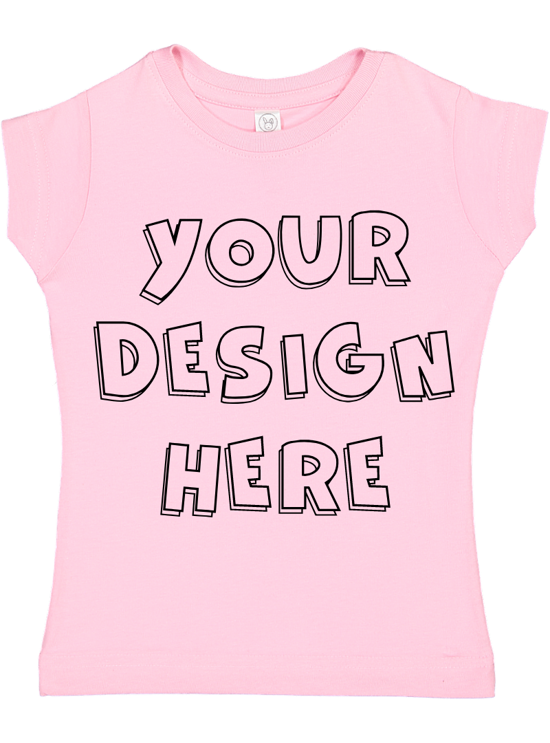Toddler Gilrs Flat Jersey T Shirt Mockups - 17 example image 12