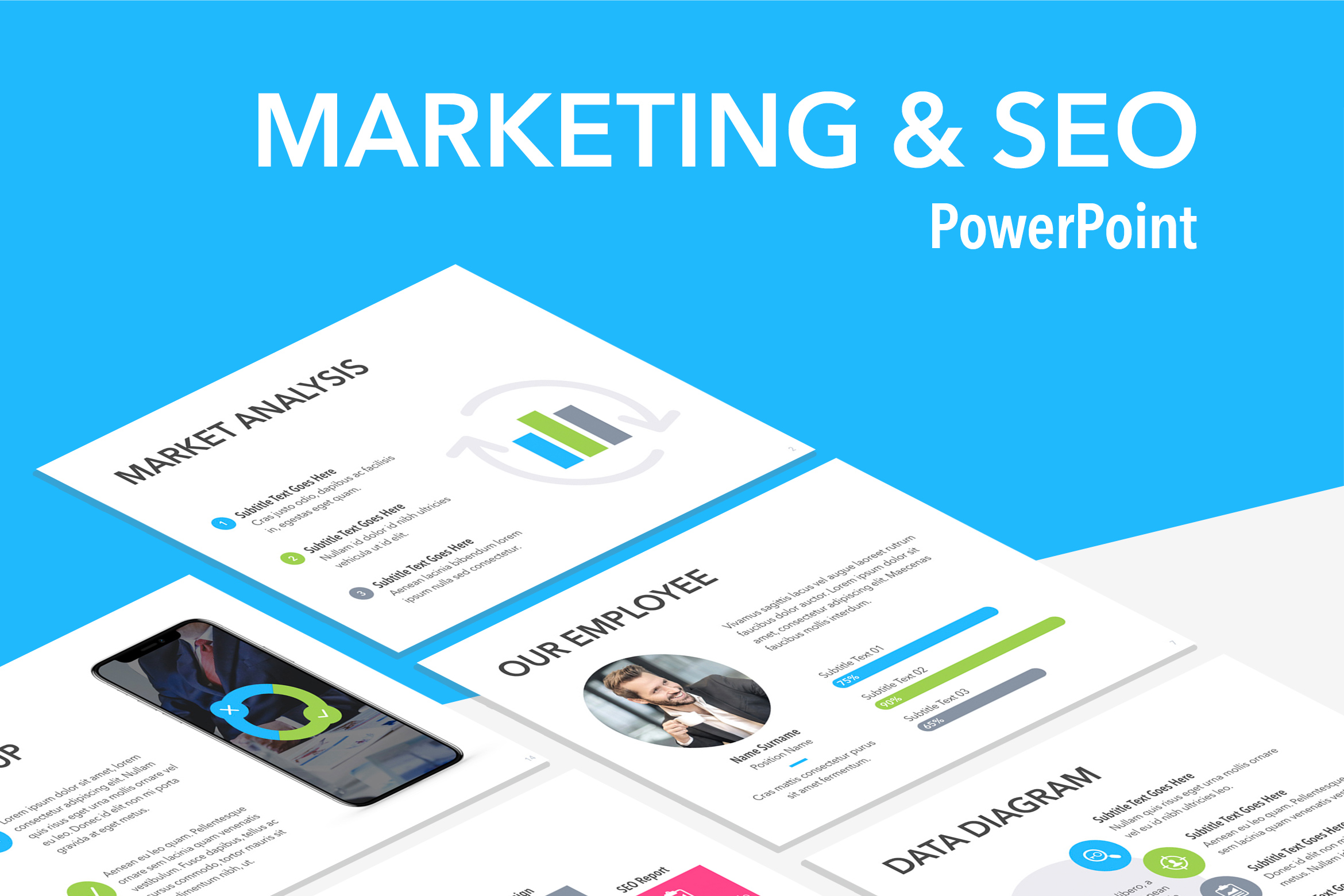 Marketing & SEO PowerPoint Template example image 1