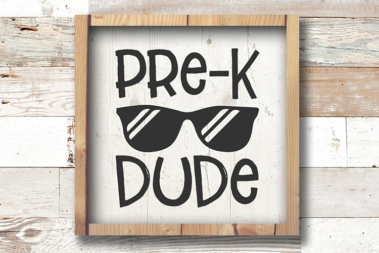pre k svg, Pre-K Dude SVG, Preschool Svg, Kinder Svg, Pre-K example image 2